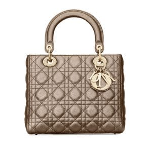 Dior Bronze Metallic Medium Lady Dior Bag