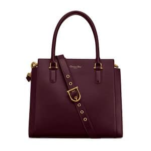 Dior Burgundy 21st Large Shopping Bag