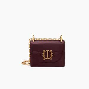 Dior Burgundy Diordirection Flap Bag