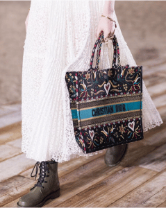 Dior Multicolor Embroidered Book Tote Bag - Cruise 2019