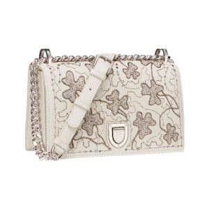 Dior Off-White Clover Embroidered Diorama Bag