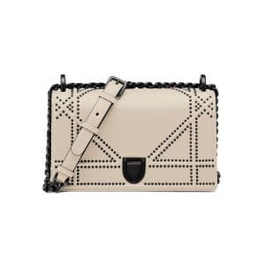 Dior Off-White Studded Small Diorama Bag