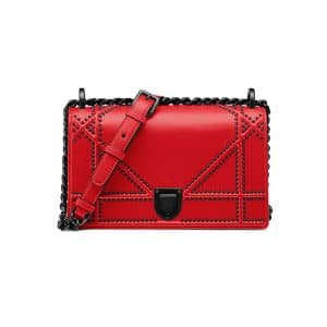 Dior Red Studded Small Diorama Bag