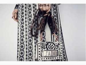 Dior White/Black Embroidered J'adior Flap Bag - Cruise 2019