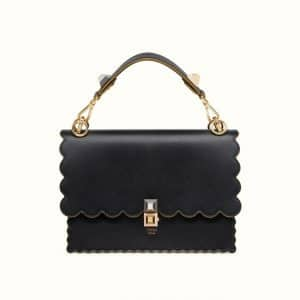 Fendi Black FF Reloaded Kan I Bag