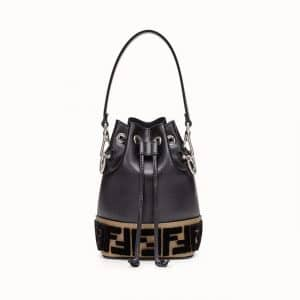 Fendi Black FF Reloaded Mon Tresor Bucket Bag