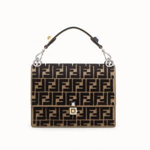 Fendi Brown FF Reloaded Kan I Bag