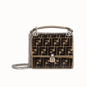 Fendi Brown FF Reloaded Kan I Small Bag