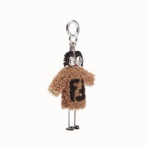 Fendi Brown Sheepskin FF Reloaded Teen Witches Charm