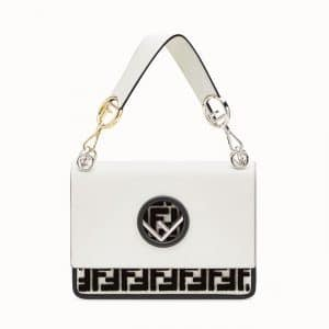 Fendi White FF Reloaded Kan I F Bag
