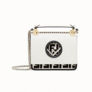 Fendi White FF Reloaded Kan I F Small Bag
