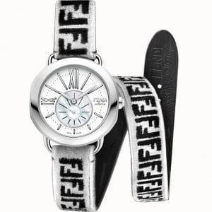 Fendi White FF Reloaded Selleria Watch