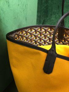 Goyard Yellow Saint Louis Claire Voie Tote Bag