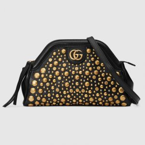 Gucci Black Studded RE(BELLE) Small Shoulder Bag