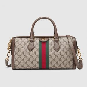 Gucci GG Supreme Ophidia Medium Boston Bag