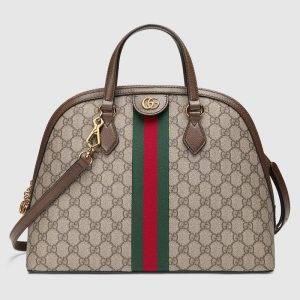Gucci GG Supreme Ophidia Medium Top Handle Bag