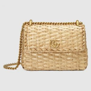 Gucci Natural Wicker Mini Shoulder Bag