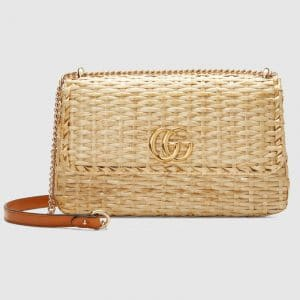 Gucci Natural Wicker Small Shoulder Bag