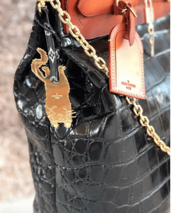 Louis Vuitton Black Crocodile Steamer Bag - Cruise 2019