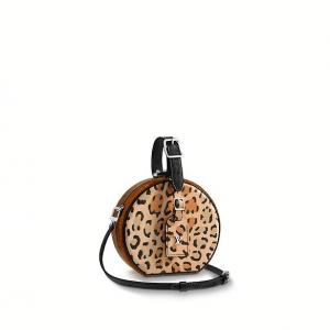 Louis Vuitton Leopard Print Wild Petite Boite Chapeau Bag