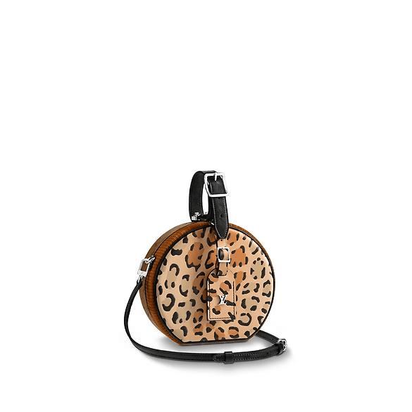 38c88ff568 Louis Vuitton Leopard Print Wild Petite Boite Chapeau Bag