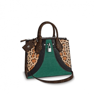 Louis Vuitton Leopard Print/Corduroy City Steamer PM Bag
