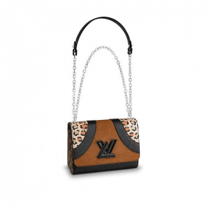 Louis Vuitton Leopard Print/Corduroy Wild Twist MM Bag