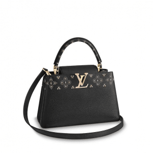 Louis Vuitton Noir Capucines Sweet Brogues PM Bag