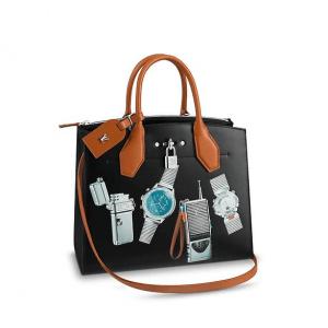 Louis Vuitton Noir Stickers City Steamer MM Bag