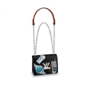 Louis Vuitton Noir Stickers Twist PM Bag