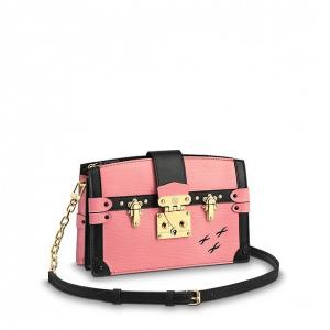 Louis Vuitton Rose Epi Petite Malle Trunk Clutch Bag.png