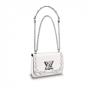 Louis Vuitton White Bubbles Twist MM Bag