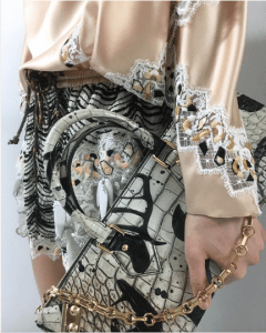 Louis Vuitton White/Black Crocodile Top Handle Bag - Cruise 2019