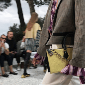 Louis Vuitton Yellow Monogram Vernis Top Handle Bag - Cruise 2019