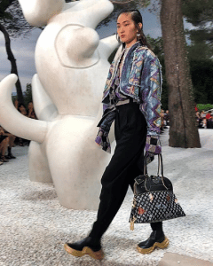 Louis Vuitton x Grace Coddington Black Monogram Top Handle Bag - Cruise 2019