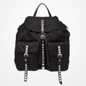 Prada Black Black Nylon Backpack Bag