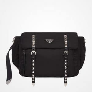 Prada Black Black Nylon Belt Bag