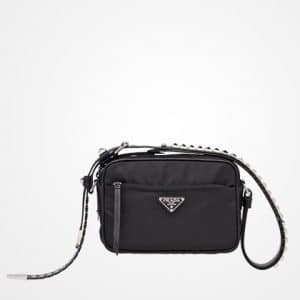 Prada Black Black Nylon Mini Shoulder Bag