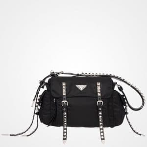Prada Black Black Nylon Shoulder Bag