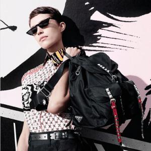Prada Black Nylon Backpack Bag 2
