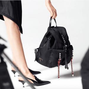 Prada Black Nylon Backpack Bag