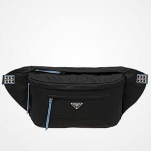 Prada Black/Astral Blue Black Nylon Mini Belt Bag