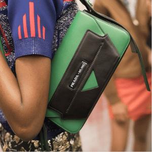 Prada Green Black Flap Bag - Resort 2019