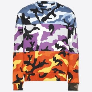 Valentino Multicolor Camoushuffle Crew-neck Sweatshirt