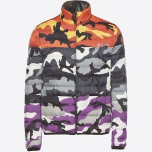 Valentino Multicolor Camoushuffle Reversible Down Coat