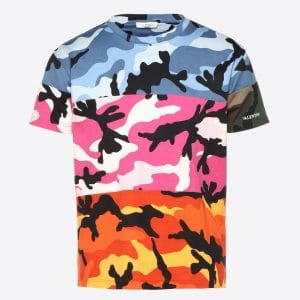 Valentino Multicolor Camoushuffle T-Shirt
