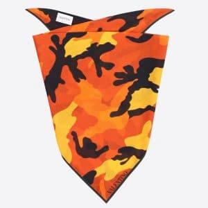 Valentino Orange Camoushuffle Bandeau Scarf