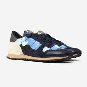 Valentino Pastel Blue Camoushuffle Rockrunner Sneaker