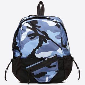 Valentino Pastel Blue Camoushuffle Small Rucksack Bag