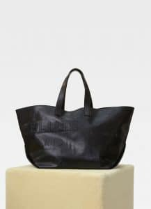 Celine Black Leather Medium Made In Tote Bag
